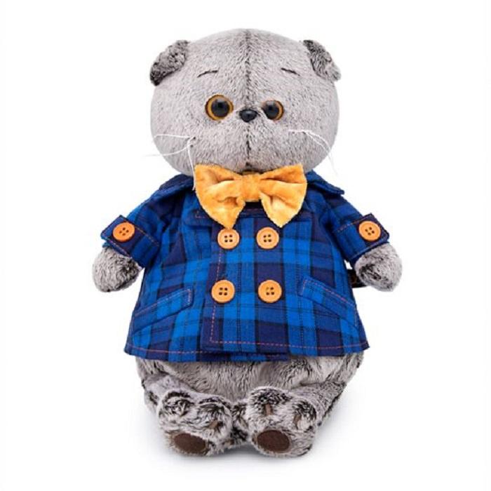 Мягкая игрушка Буди Баса Budibasa Басик в синей куртке и с бантом, 30 см басик и ко мягкая игрушка басик во фраке 30 см
