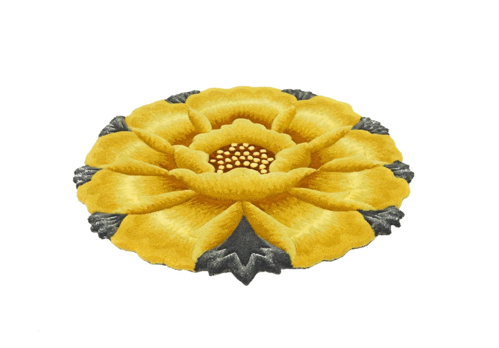 Ковер MADONNA 1,2х1,2 м /фигурный, желтый
