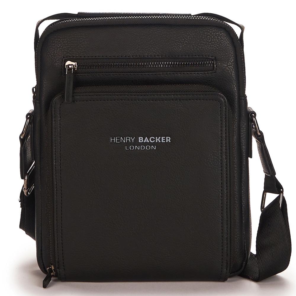 лучшая цена Сумка мужская Henry Backer, черный, HBB6608-3-04