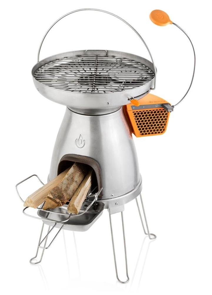 Походная печь BioLite BaseCamp, BCA, серый металлик печь для бани 8 мм