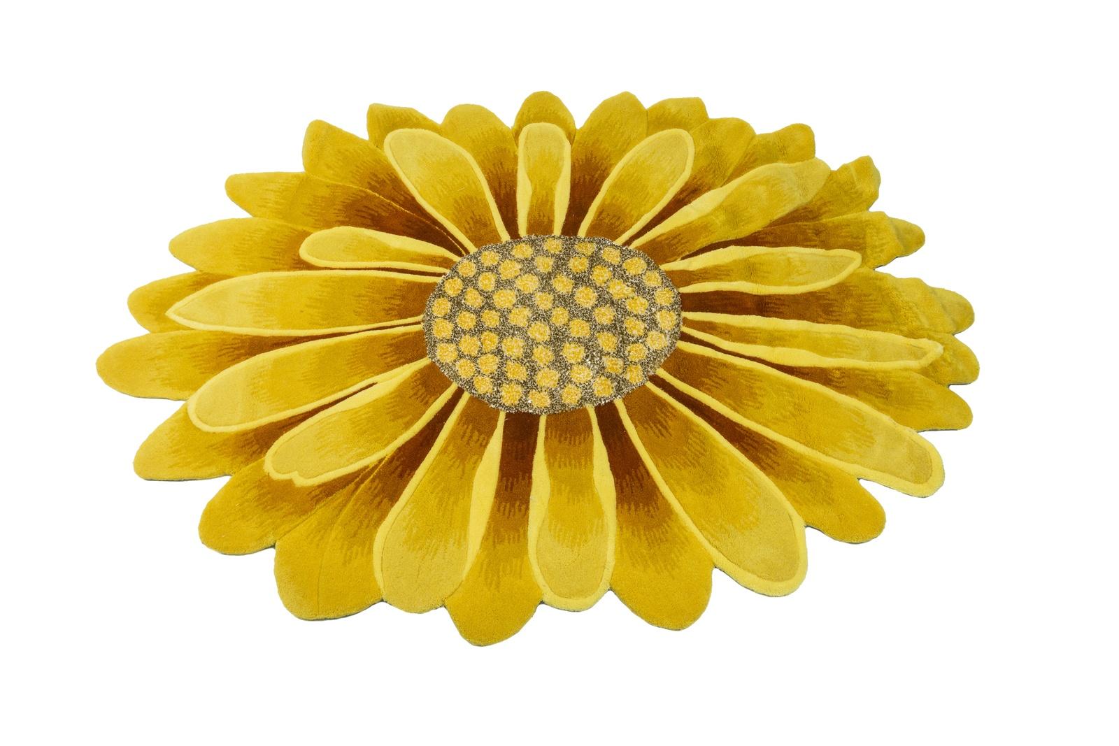 Ковер MADONNA 1,2х1,8/фигурный, желтый