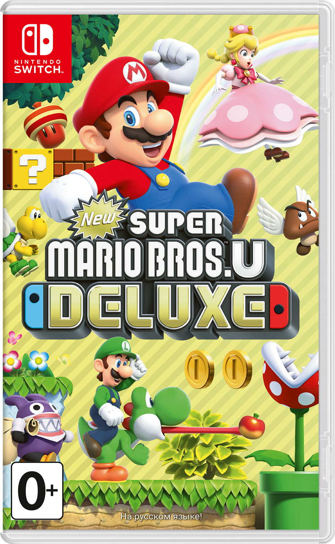 New Super Mario Bros. U Deluxe (Nintendo Switch) игровая приставка new nintendo 2ds xl black turquoise super mario 3d land