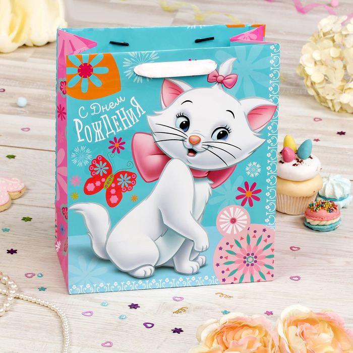 Подарочная упаковка Disney Пакет подарочный Коты аристократы 23*27*11 см голодранцы и аристократы