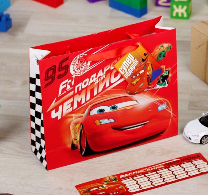 """Подарочная упаковка Disney """"Подарок чемпиона"""" , 4627151964560, красный"""
