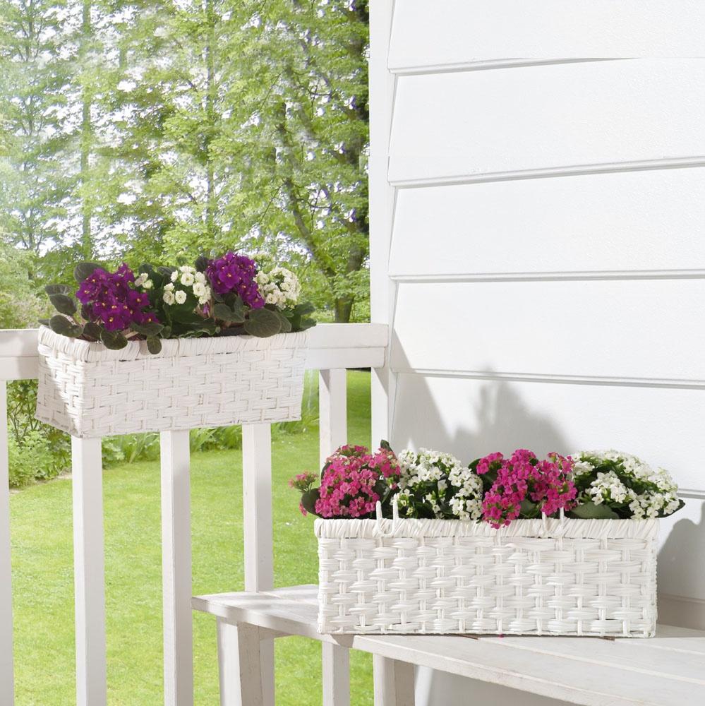 Балконный ящик ХИТ - декор Ящики для растений Pure Edition, 2 штуки, 06303 декор bradex автополив для растений флаура