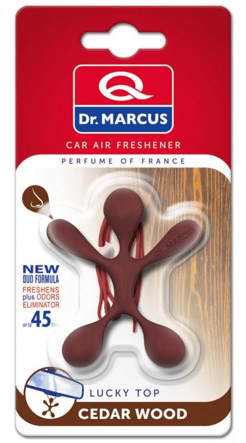 Ароматизатор Dr.Marcus Lucky Top Cedar Wood659Lucky Top - ваш ароматный амулет удачи! Ароматизатор подвесной DR.MARCUS LUCKY TOP Black- Подарите себе дольку счастья каждый день.Повесьте его на зеркало в автомобиле или в другом месте и наслаждайтесь прекрасным запахом удачи. Внимание! Продукт не является ягрушкой и должен находиться вдали от детей. Использованный продукт утилизировать в емкость, предназначенную для селективного сбора отходов. Состав:пластмасса, специальная пропитка, ароматизирующие вещества.