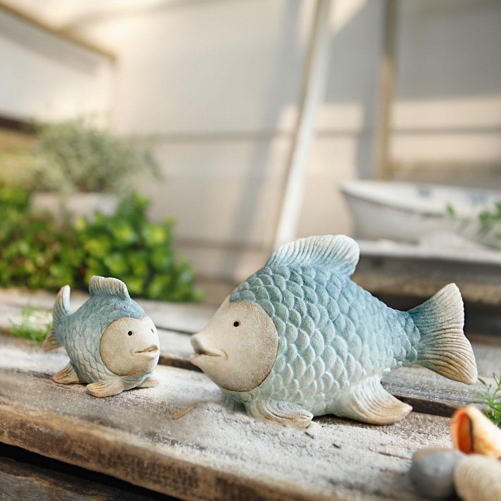 Фигурка декоративная ХИТ - декор Рыбки - голубая лагуна, 06336, 06336 настольный декор ананас зеленый 12 х 12 х 22 см