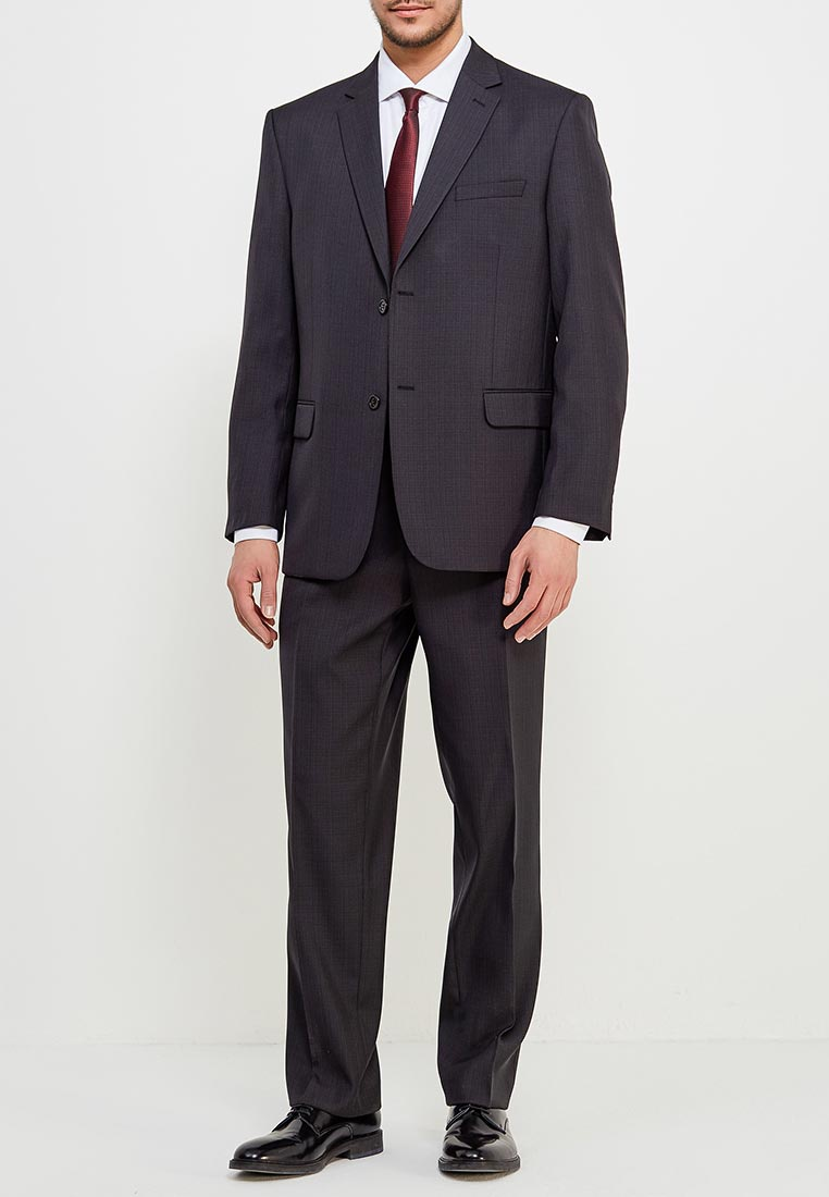 Костюм STENSER К804 54/176, темно-серый 54-176 размерК804Классический костюм на каждый день тёмно-серый в небольшую серую клетку. Ткань верха (Т804) -плотная на подложке, немнущаяся. Модель Кю-5. Силуэт прямой на стандартную или полную фигуру. Первая цифра маркировки, размер - полуобхват груди, вторая -рост. На пиджаке 2 пуговицы - застёжки, 1 шлица сзади. Брюки классические с защипом, на подкладке, линия посадки пояса брюк средняя, пояс составной. Параметры для размера 54/176: длина рукава - 65 см, градация по ростам - 3 см, длина пиджака по заднему шву - 76 см, градация по ростам - 2 см, пояс брюк - 100 см, градация по размерам - 4 см, ширина низка брюк - 22 см, градация по размерам - 0,3-0,5 см, длина по шаговому шву - 82 см, градация по ростам - 4,5 см.