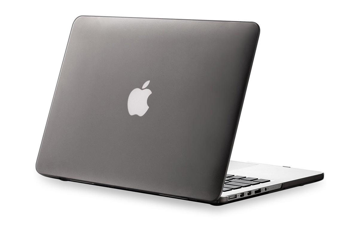 "Чехол для ноутбука Gurdini накладка пластик матовый для MacBook 12"", серый"