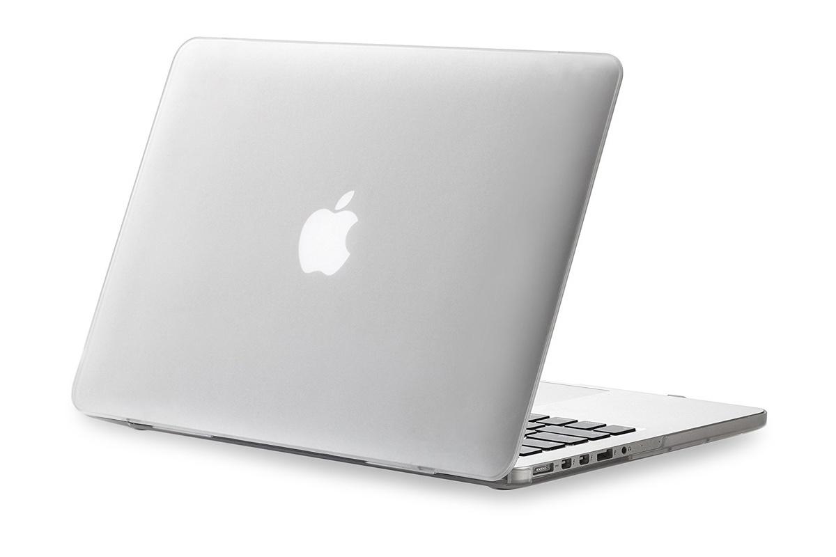 "Чехол для ноутбука Gurdini Чехол MacBook 12"" накладка пластик прозрачный, прозрачный"