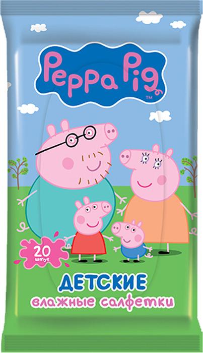Влажные салфетки детские Peppa Pig, 20 шт