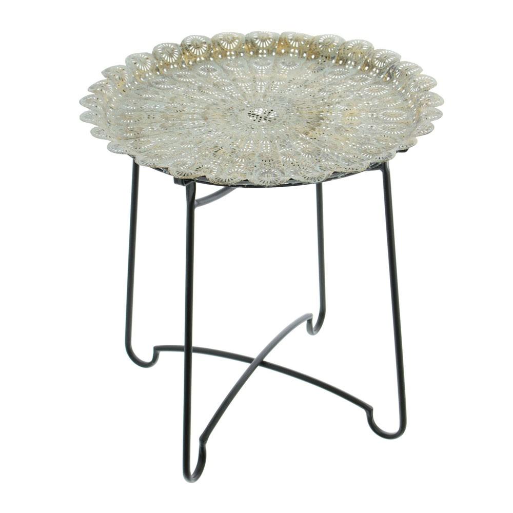 Приставной столик Марракеш столик из металла и дерева h высота 60 см nottingham