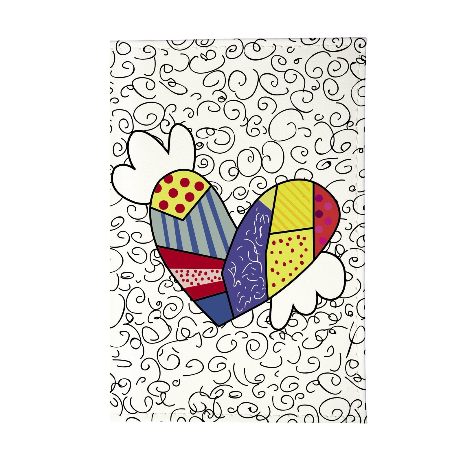 Обложка для паспорта Mitya Veselkov OK, белый обложка для паспорта mitya veselkov райский сад