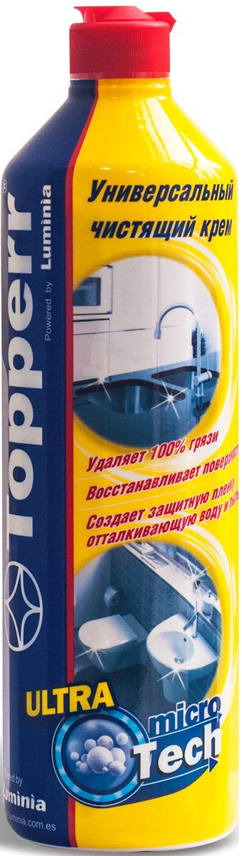 Крем чистящий Topperr, 3437, для кухни и ванной комнаты, с ароматом лимона, 750 мл