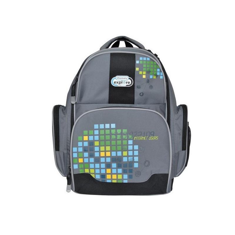 Рюкзак Город Подарков Рюкзак школьный DISCOVERY, DV-ASB7001_2 рюкзак discovery 40х28х16см рельефная анатомическая спинка тёмно синий