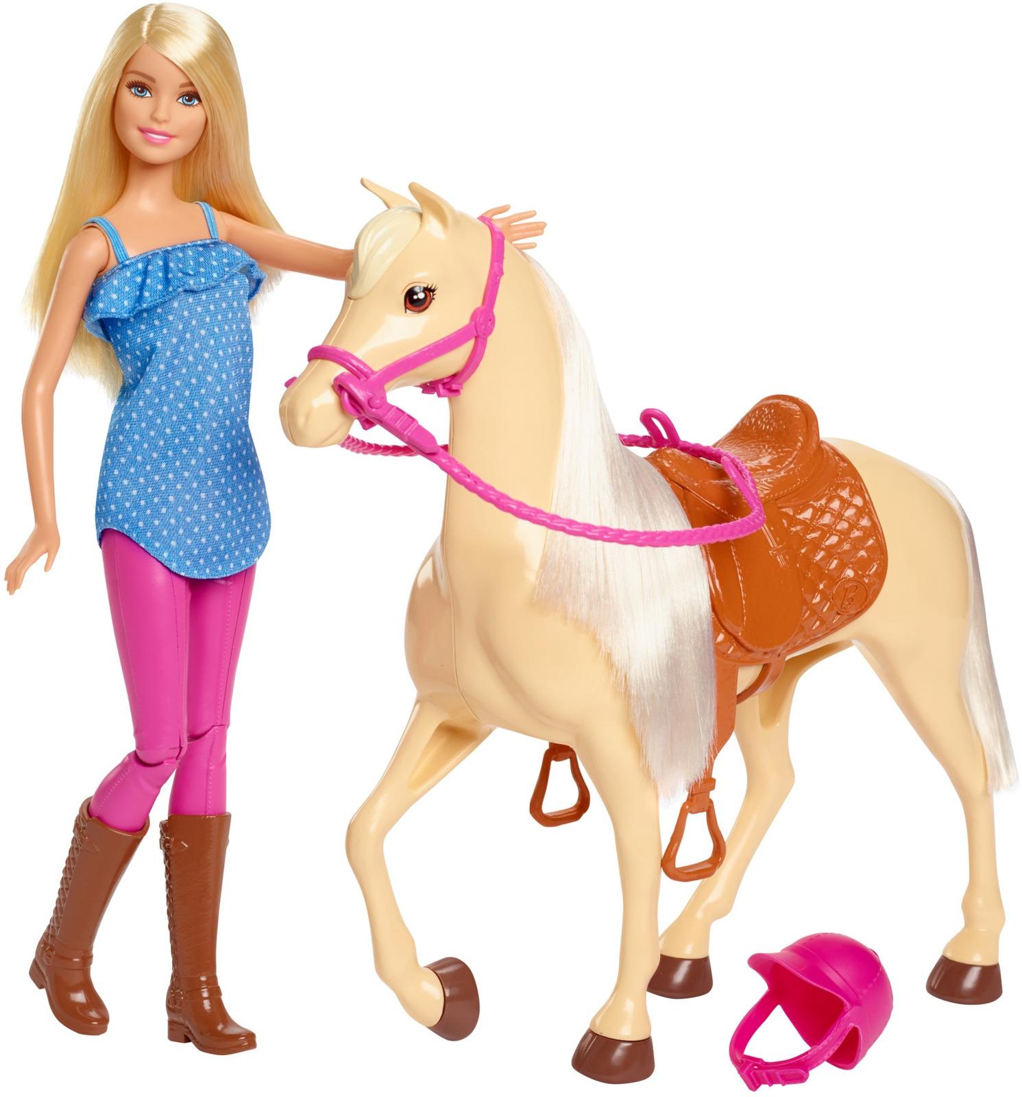 Игровой набор с куклой Barbie Barbie и лошадь, FXH13 mattel barbie барби и лошадь fxh13