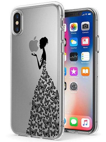 """Чехол для сотового телефона UVOO Art Design """"Девушка в платье из бабочек 2"""" для Apple iPhone X / XS"""