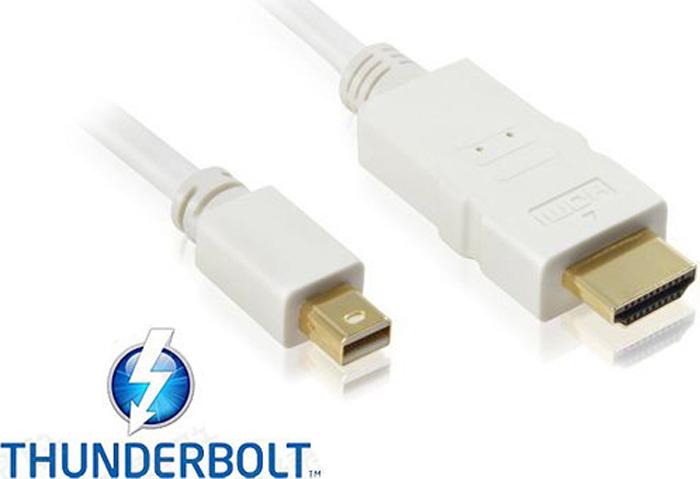 Фото - Кабель-переходник Greenconnect, mini DisplayPort, HDMI, 1,8 м, белый видео