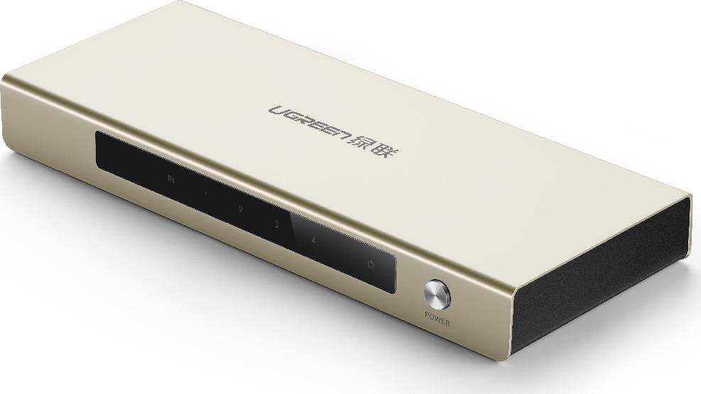 Разветвитель Ugreen, HDMI 19F/2x19F, UG-40276, серебристый