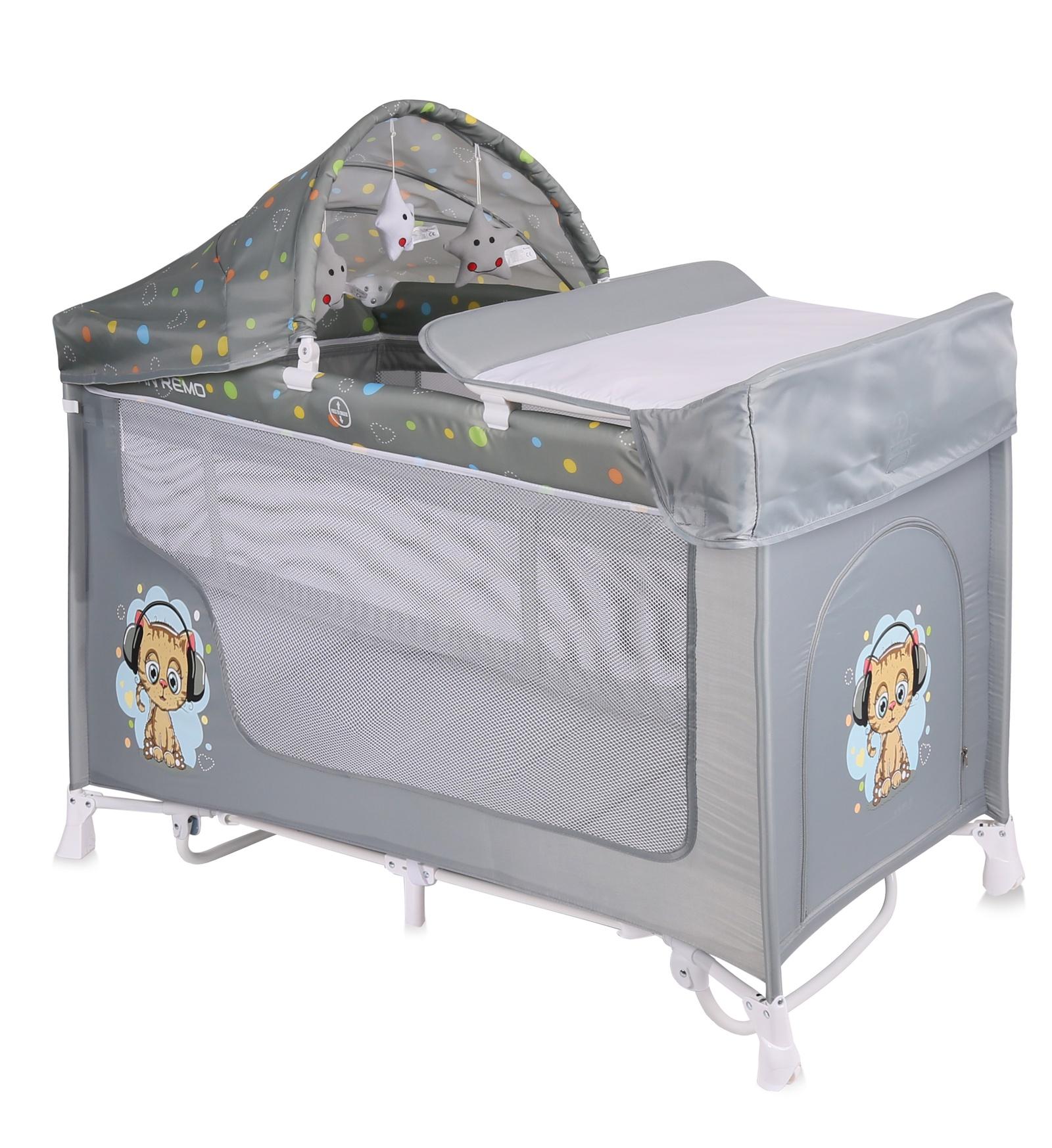 Lorelli Манеж-кроватка San Remo 2 Rocker цвет серый