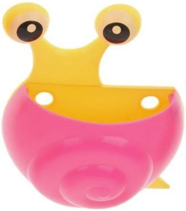 """Держатель для зубных щёток, детский, на присосках """"Улитка"""", цвет розовый, Fidget Go"""