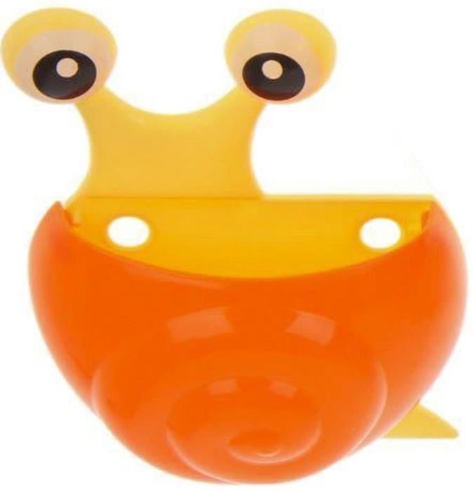 """Держатель для зубных щёток, детский, на присосках """"Улитка"""", цвет оранжевый, Fidget Go"""