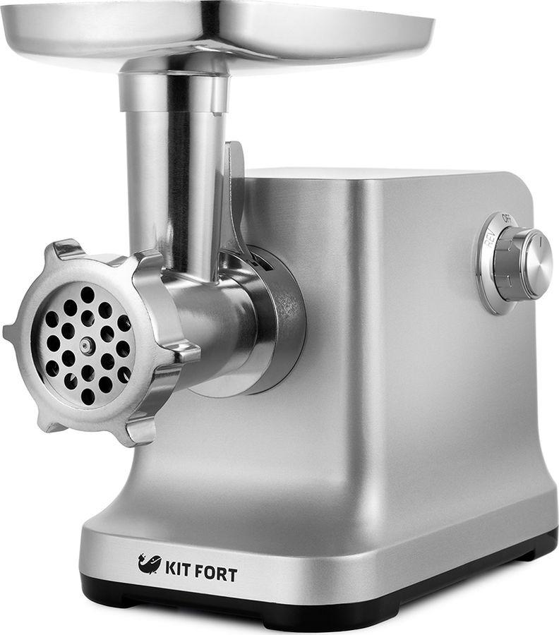 Мясорубка электрическая Kitfort, КТ-2102, серебристый
