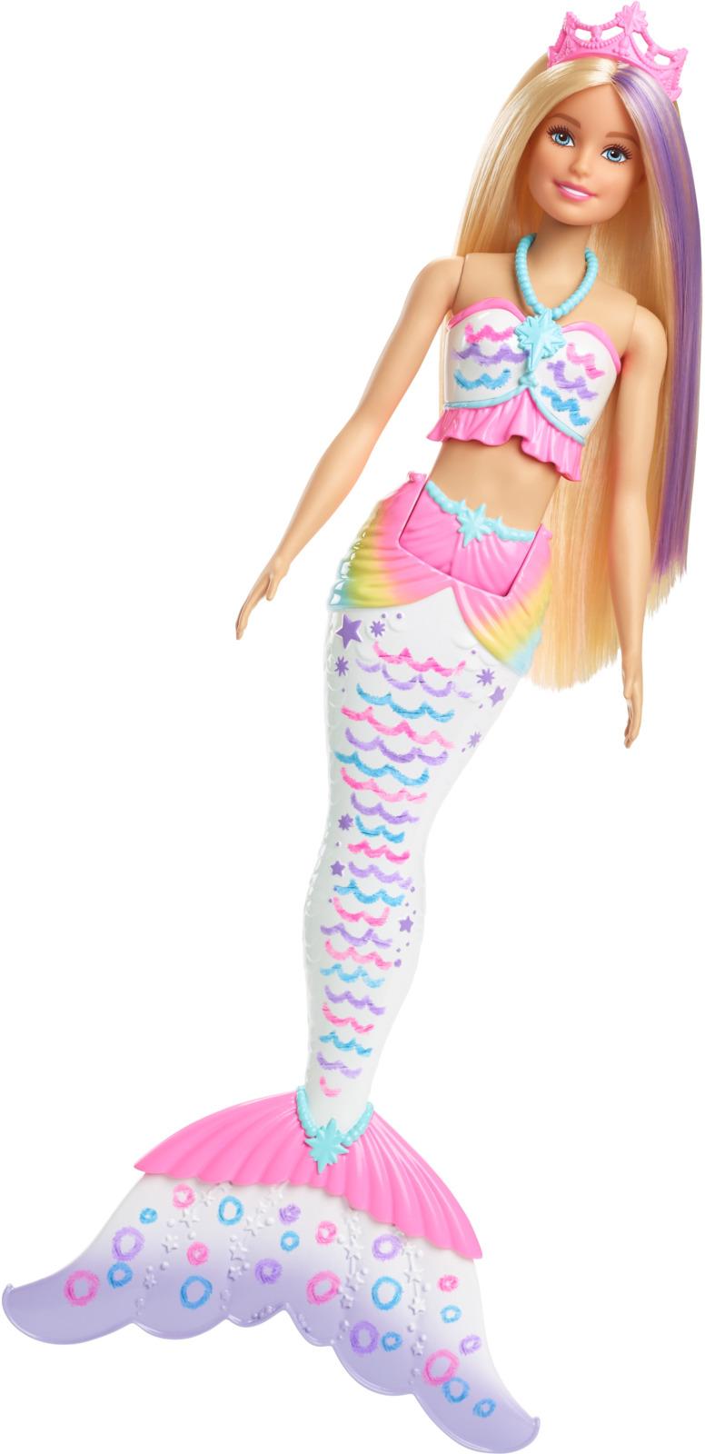 Кукла Barbie Цветная русалочка, GCG67 barbie кукла волшебные русалочки fjc89 fjc91