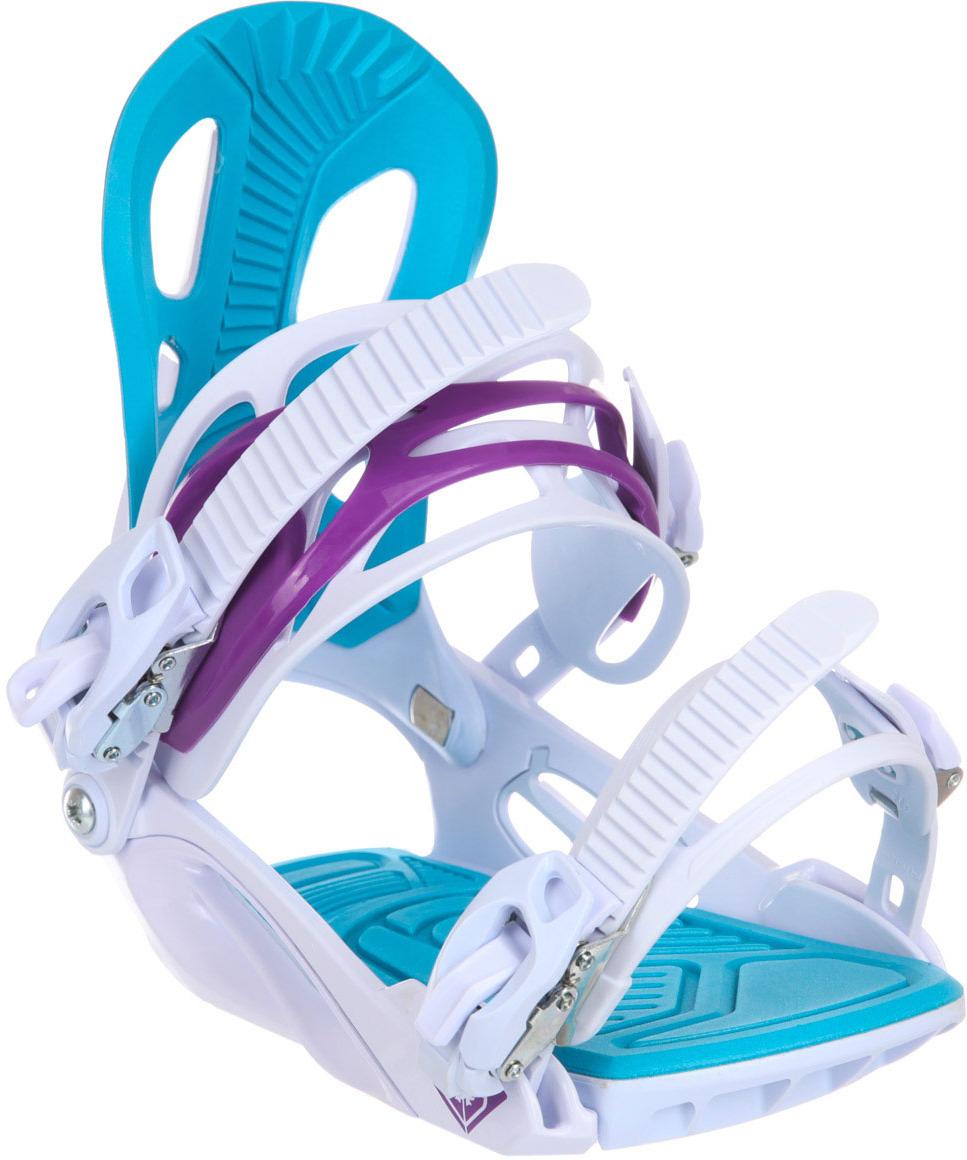 Крепление для сноуборда Roxy CLASSIC, цвет: белый. Размер M/L