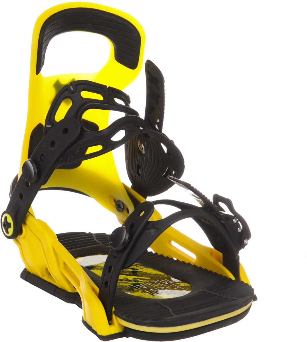 Крепление для сноуборда Bent Metal LOGIC, цвет: желтый. Размер M