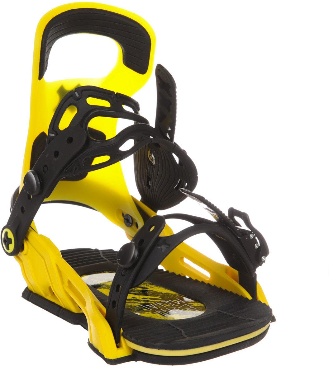 Крепление для сноуборда Bent Metal LOGIC, цвет: желтый. Размер L