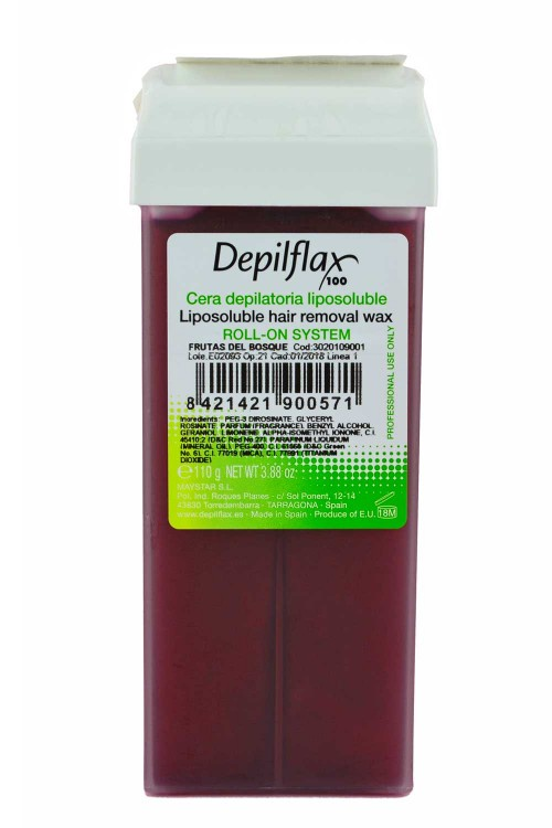 Воск для депиляции DEPILFLAX100 901028D, Лесные ягоды (прозрачный), 110 гр, 110