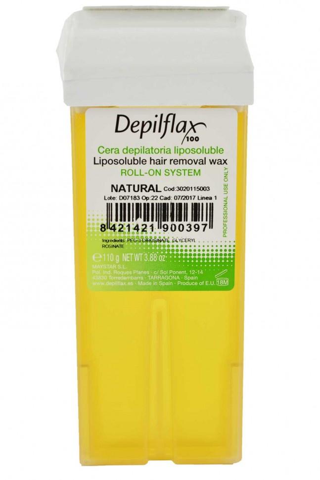 Воск для депиляции Depilflax100 Depilflax100 натуральный 900854D, прозрачный, 110 гр, 110 воск для депиляции depilflax100 розовый 900984d к ремовый плотный 110 гр 110