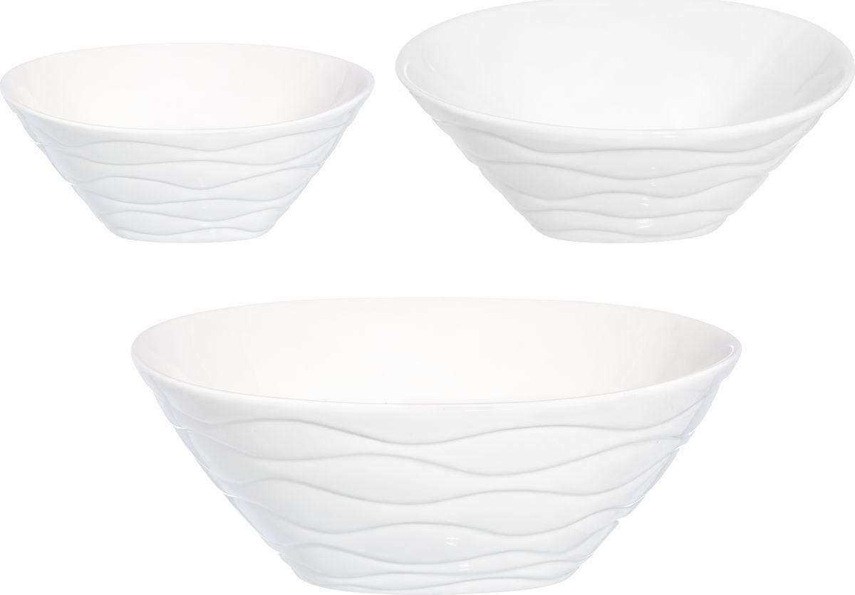 """Набор салатников Elan Gallery """"Айсберг"""", 540234, белый, 3 шт"""