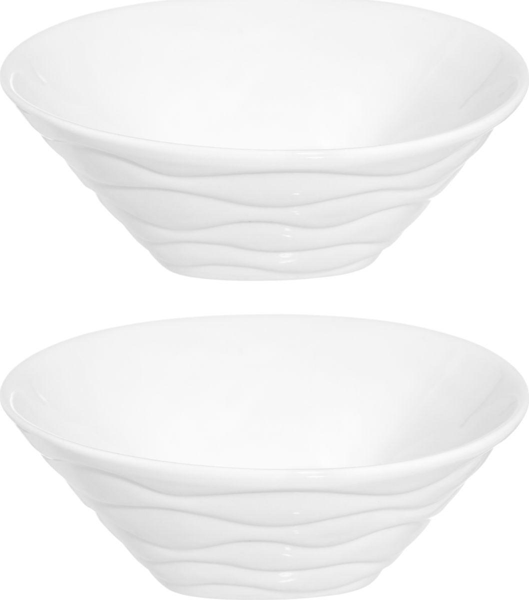 """Набор салатников """"Айсберг"""", 540236, 200 мл, белый, 2 шт"""