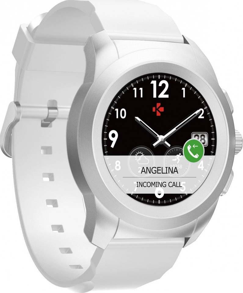 Умные часы MyKronoz ZeTime Original Regular, серебристый, белый гибридные смарт часы mykronoz zetime original regular цвет матовое серебро черный