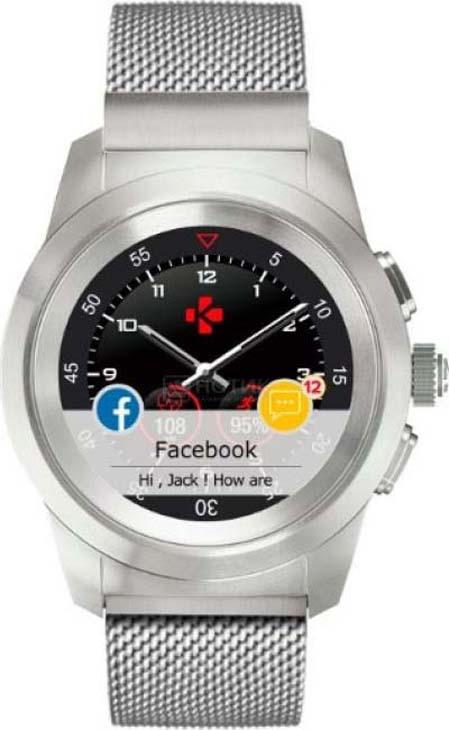 Умные часы MyKronoz ZeTime Elite Petite, серебристый гибридные смарт часы mykronoz zetime original regular цвет матовое серебро черный
