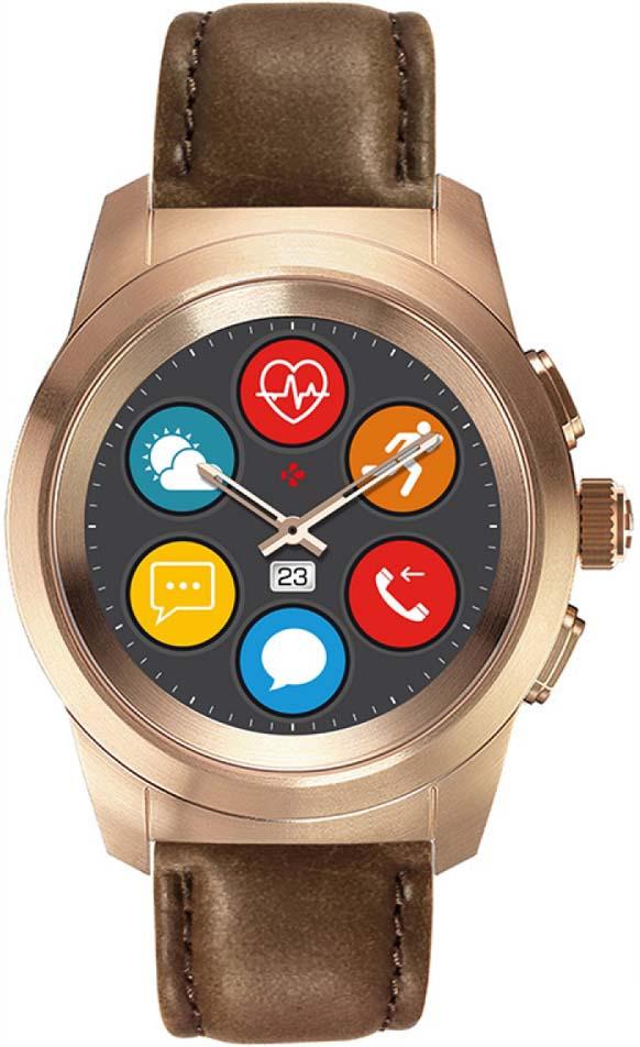Умные часы MyKronoz ZeTime Premium Regular, розовое золото часы mykronoz zetime premium regular krzt1rp bpg brlea матовое розовое золото