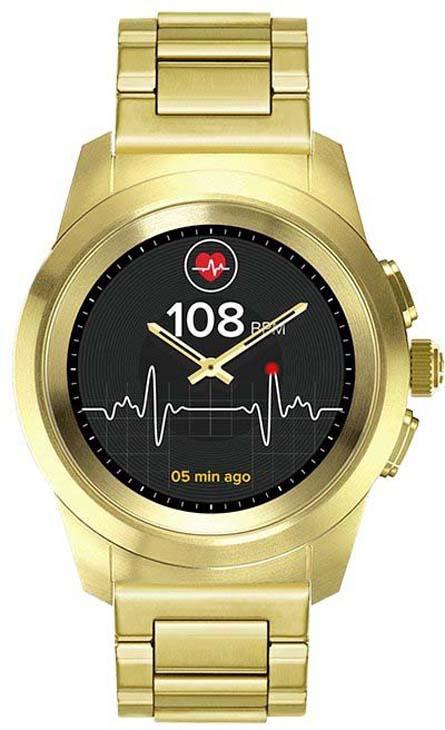 Умные часы MyKronoz ZeTime Elite Petite, металлический ремешок, 39 мм, желтое золото гибридные смарт часы mykronoz zetime elite regular блочный металлический ремешок цвет титан 44 мм