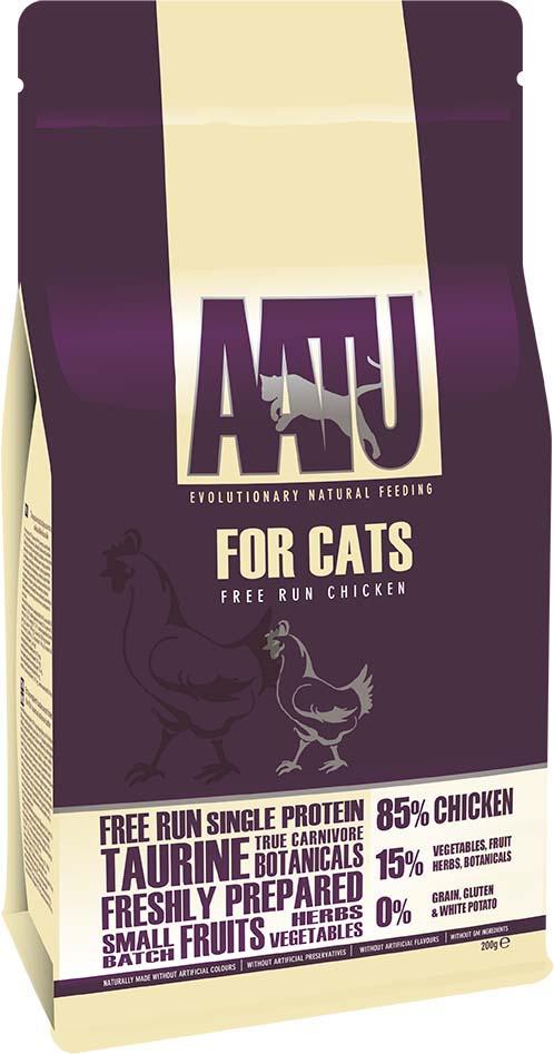 Корм сухой Aatu, для кошек, с курицей, 200 г