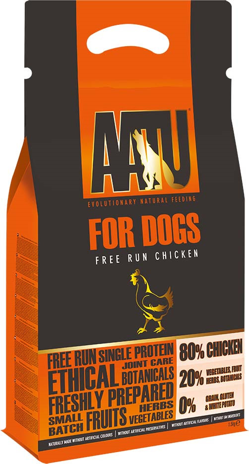 Корм сухой Aatu, для собак, с курицей, 1,5 кг