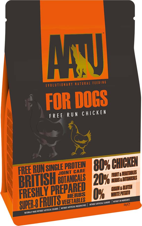 Корм сухой Aatu, для собак, с курицей, 5 кг