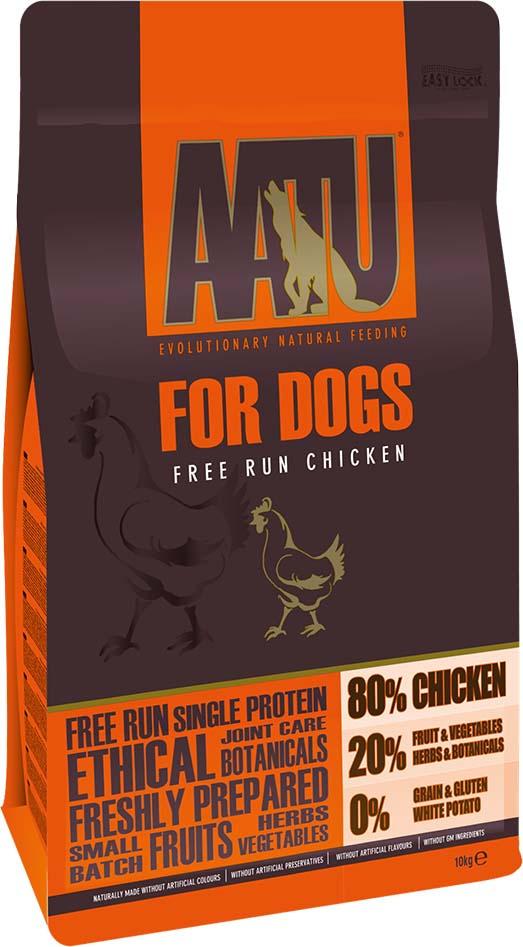 Корм сухой Aatu, для собак, с курицей, 10 кг