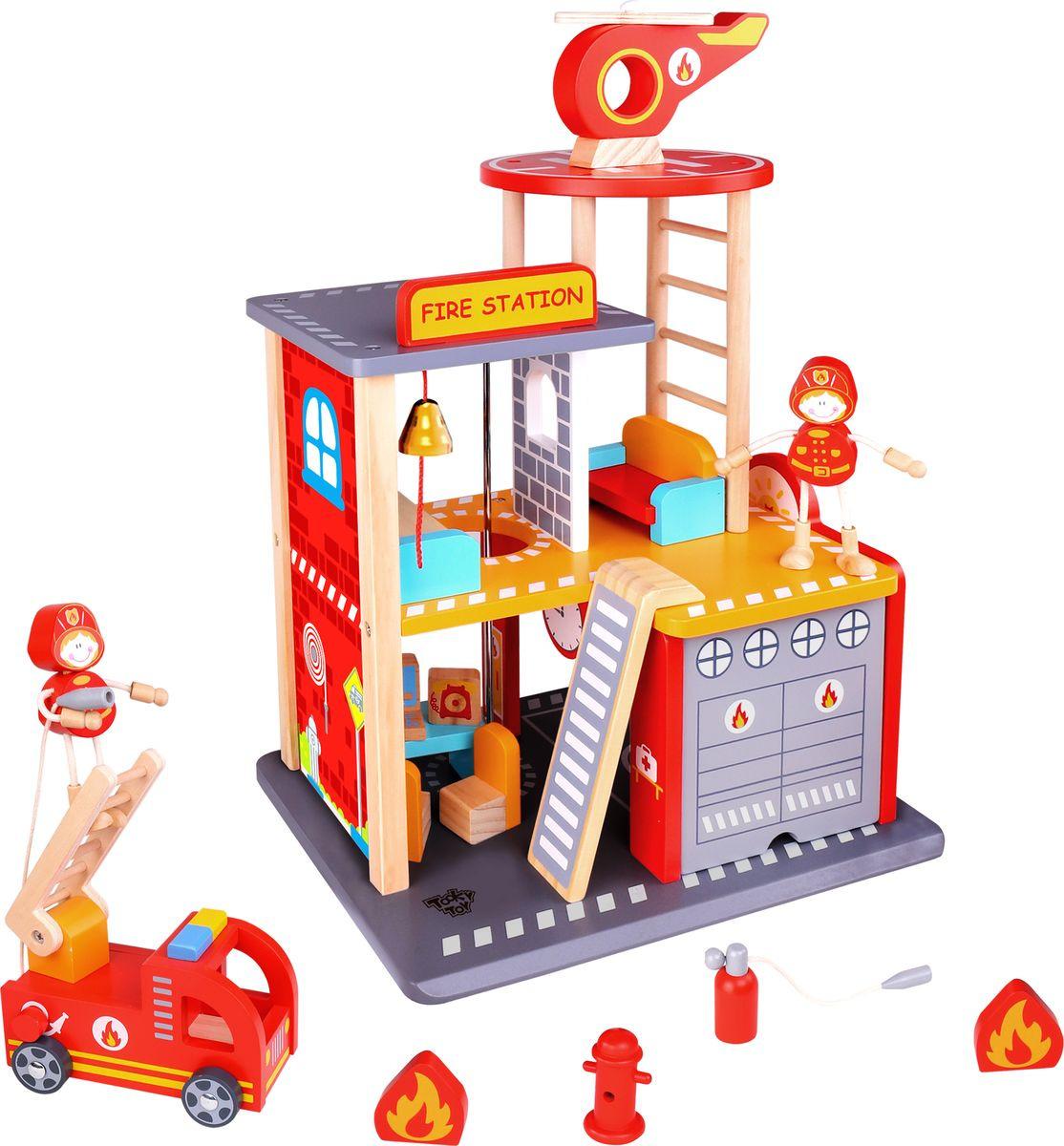 """Сюжетно-ролевые игрушки Tooky Toy """"Пожарная станция"""", TKI001"""