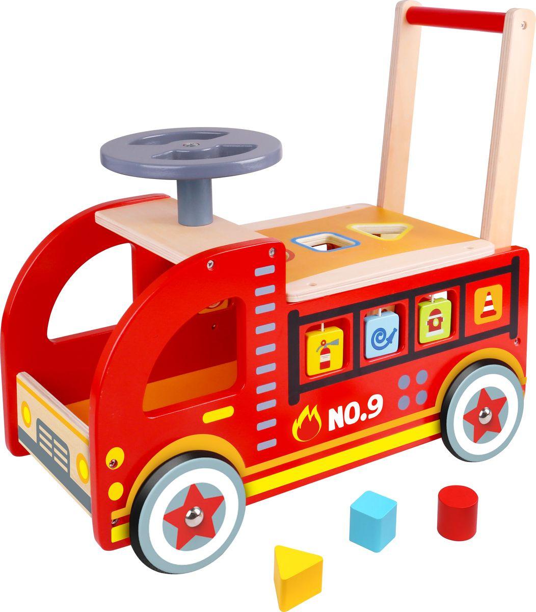 "Игрушка-каталка Tooky Toy ""Пожарная машина"", TY063"