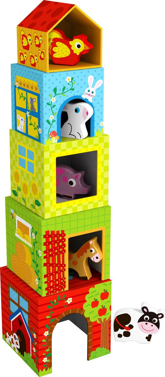 """Кубики Tooky Toy """"Ферма"""", TKF053"""