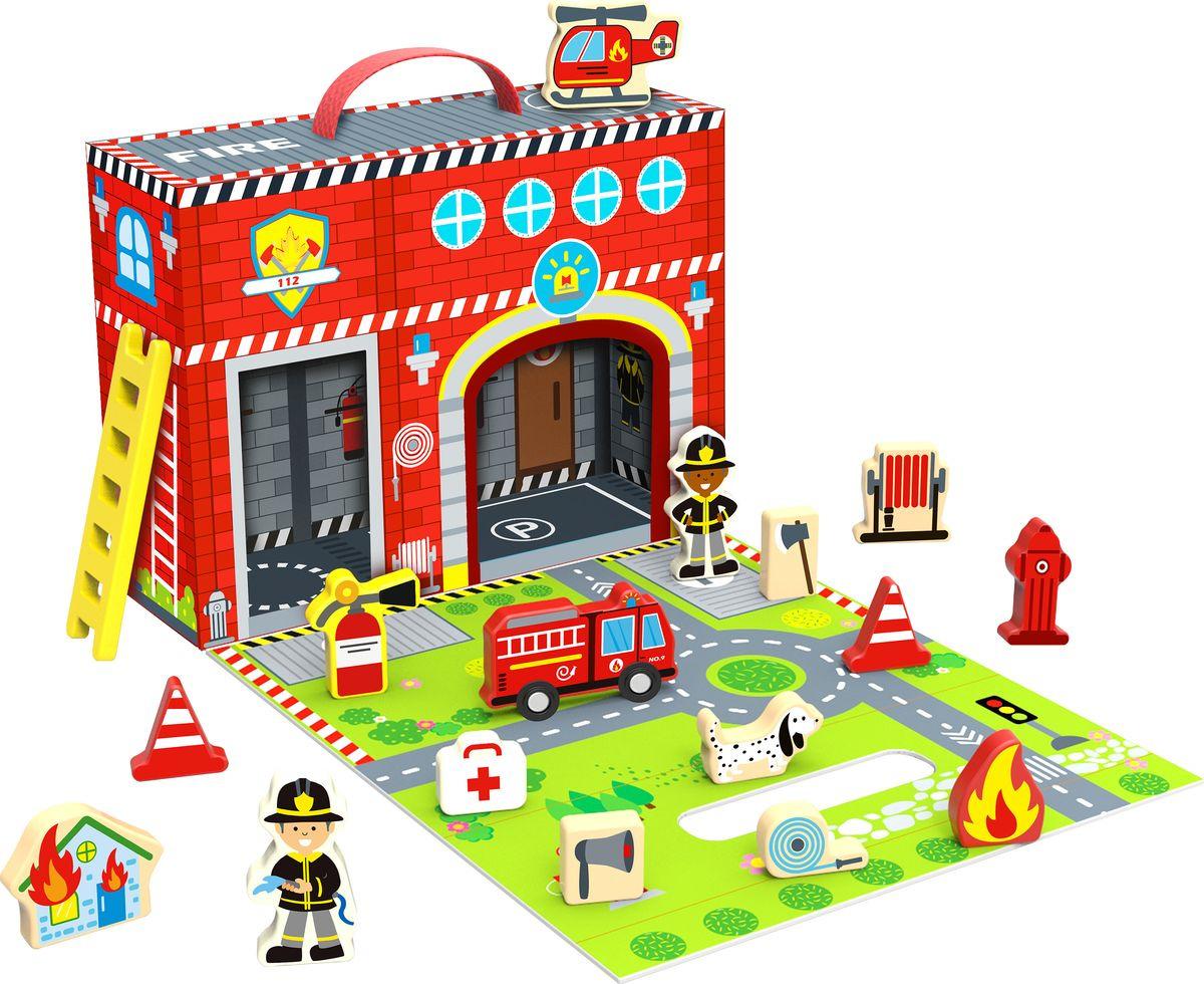 """Развивающая игрушка Tooky Toy """"Пожарная станция"""", TY203"""