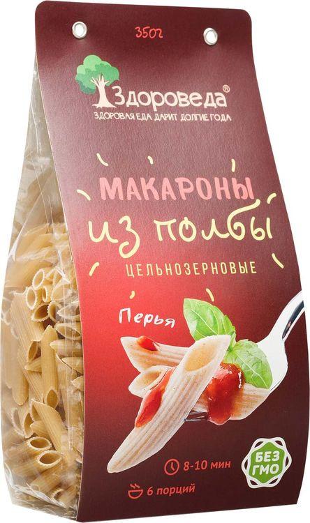 """Макароны Здороведа, """"Перья"""", цельнозерновые из полбы, 350 г"""