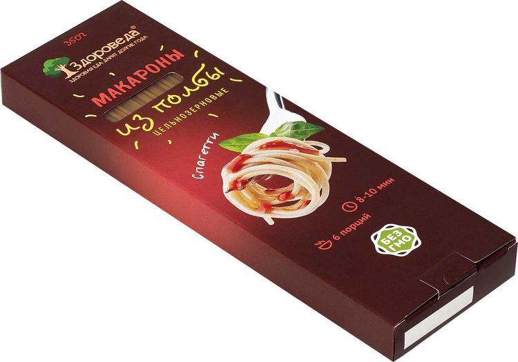 """Макароны Здороведа """"Спагетти"""", цельнозерновые из полбы, 350 г"""