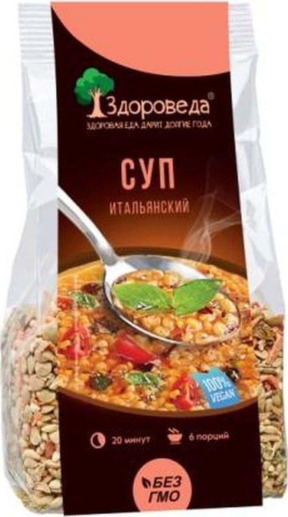 """Смесь для супа Здороведа """"Итальянская"""", с красной чечевицей и макаронами, 250 г"""